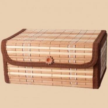 Подарочный набор в бамбуковом сундуке (молотый 250г + чай  Цейлон  200г)