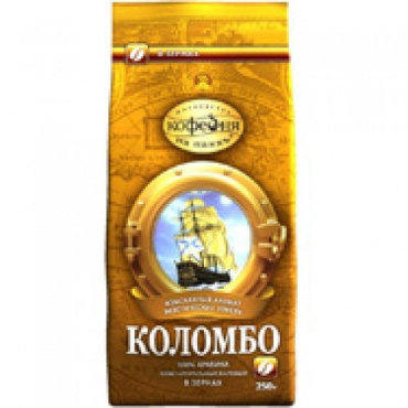 """Кофе в зернах Коломбо """"Кофейня на паях"""",500г"""