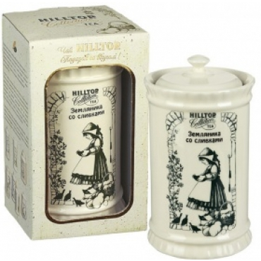 """Чай Хилтоп (Hilltop) в керамической  чайнице """"Земляника со сливками,125 г"""