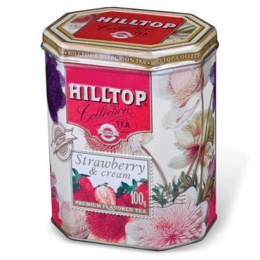 """Чай Хилтоп (Hilltop) """"Земляника со сливками"""" в банке,100г"""