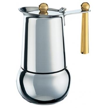 "Кофеварка  гейзерная  Bialetti ""Kitty Gold"" (Биалетти Китти Голд),4 порции (Под заказ)"