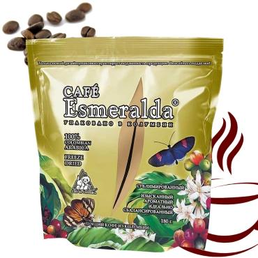 Классический сублимированный кофе в пакете с замком-молнией,180 г  Напиток с завораживающей винно-фруктовой кислинкой и мягким вкусом. Обжарен и упакован в Колумбии.