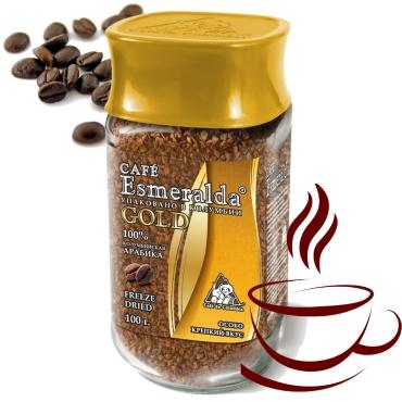 Классический сублимированный кофе Голд, 100 г Напиток с крепким вкусом и шоколадным ароматом. Обжарен и упакован в Колумбии.