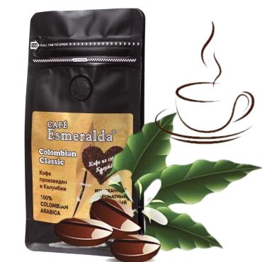 Кофе в зернах средней обжарки Colombian Classic,500г  Напиток с легкой кислинкой, плотной крема и шоколадно-цитрусовым вкусом. Произведено и упаковано в Колумбии.
