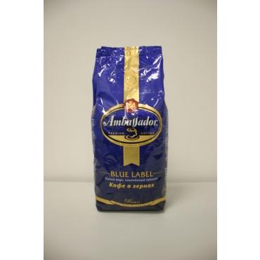 Кофе в зернах  Ambasador Blue Label (Амбассадор Блю Лабел) 1кг