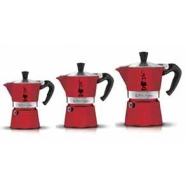 Bialetti Moka Express Colour, 3 порции (Красная или Черная)