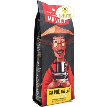 Вьетнамский кофе в зернах M. Viet  далат, 250 г + Бесплатно  фильтр - пресс  при  заказе от 1 кг!