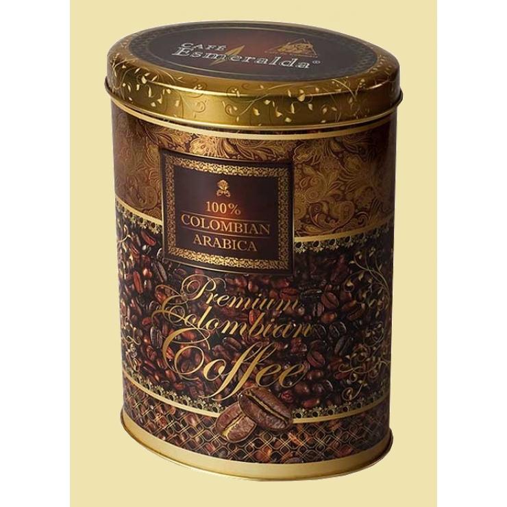 Молотый кофе в металлической  овальной банке для истинных кофеманов, 250 г