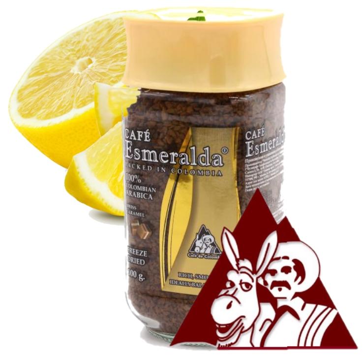 Сублимированный кофе СИЦИЛИЙСКИЙ ЛИМОН,100 г Напиток со вкусом сочного лимона и шоколадным ароматом. Обжарен и упакован в Колумбии.