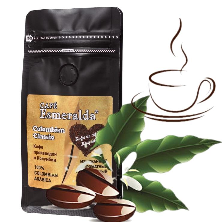 Кофе в зернах средней обжарки Colombian Classic,1000 г  Напиток с легкой кислинкой, плотной крема и шоколадно-цитрусовым вкусом. Произведено и упаковано в Колумбии.