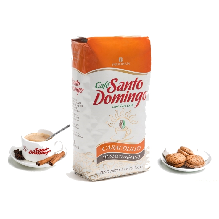 Caracolillo - доминиканский  100% органический  кофе  в зернах  с идеальной обжаркой, 453.6 г Без горечи, без кислотности. Упаковано в Доминикане.