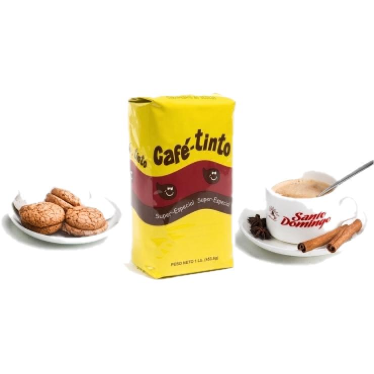 Tinto  -доминиканский 100% органический молотый кофе, 453.6 г Упаковано в Доминикане