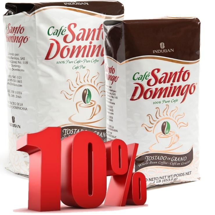 Кофе  в  зернах  из  Доминиканы Santo Domingo, 1кг 350 г