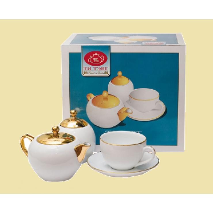 Набор с чайной посудой.  В подарок - черный цейлонский чай!