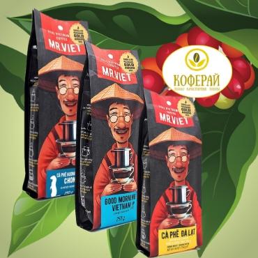 Вьетнамский зерновой  кофе M. Viet, 250 г