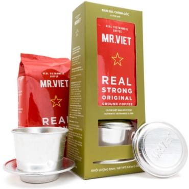 Молотый кофе Mr. Viet в подарочной  упаковке, 250 г + Бесплатно  фильтр - пресс !