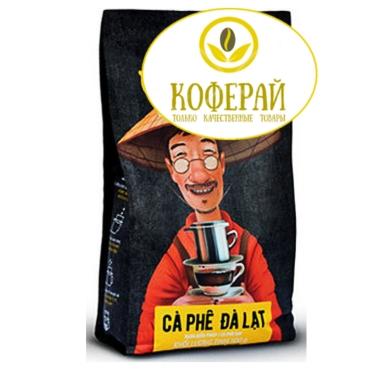 Вьетнамский кофе в зернах M. Viet далат, 500 г + Бесплатно  фильтр - пресс  при  заказе от 1 кг!
