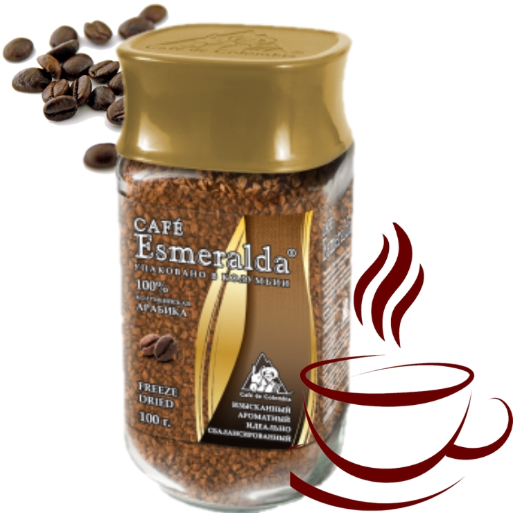 Классический сублимированный кофе, 100 г Напиток с завораживающей винно-фруктовой кислинкой и мягким вкусом. Обжарен и упакован в Колумбии.