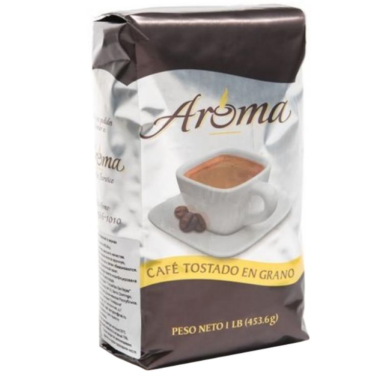 Aroma - доминиканский  100% органический  кофе в зернах с шоколадным оттенком, 453.6 г Без горечи, без кислотности. Упаковано в Доминикане.
